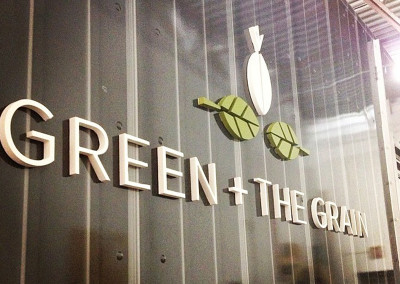 Green + the Grain Food Truck Logo