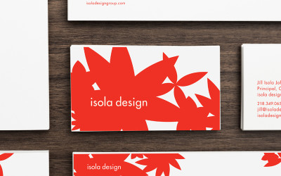 Isola Design Stationery Design