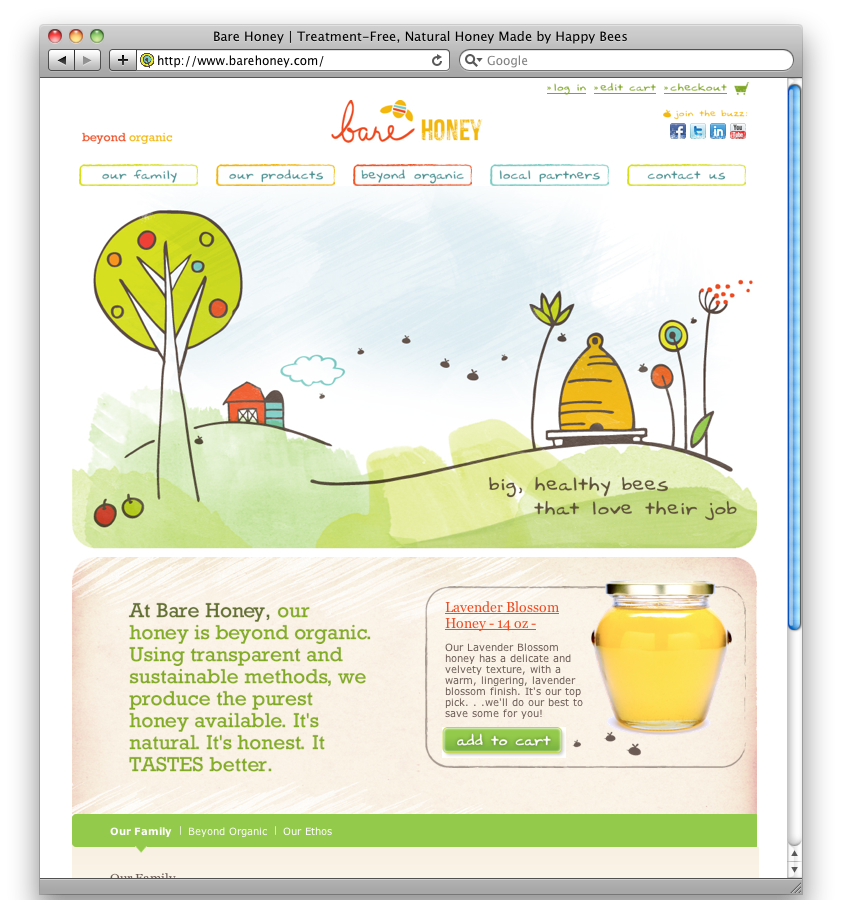 Bare Honey Homepage